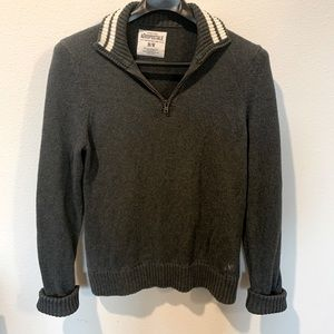 Aeropostale Half Zip Grey Sweater